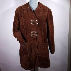 Vintage Sylvia Mark Original Brown 2-Piece Jacket